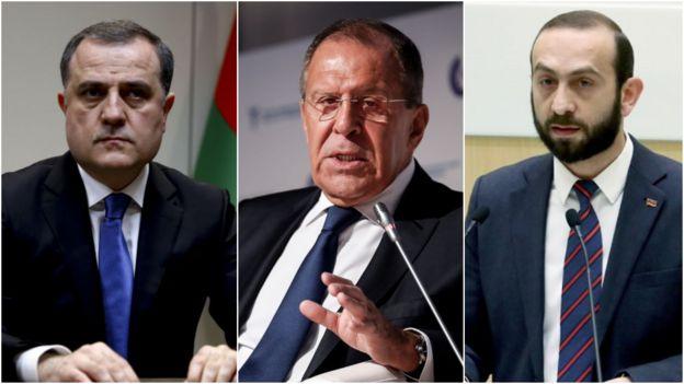 Մինսքի մէջ հանդիպած են Հայաստանի, Ատրպէյճանի եւ Ռուսաստանի արտաքին գործոց նախարարները