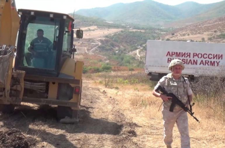 Արցախի մէջ ռուսական զօրքեր ապահոված են բջիջային աշտարակի մը կառուցման ճանապարհը